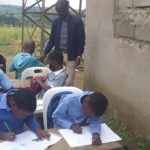 Students are taught in the open at tiny rural school